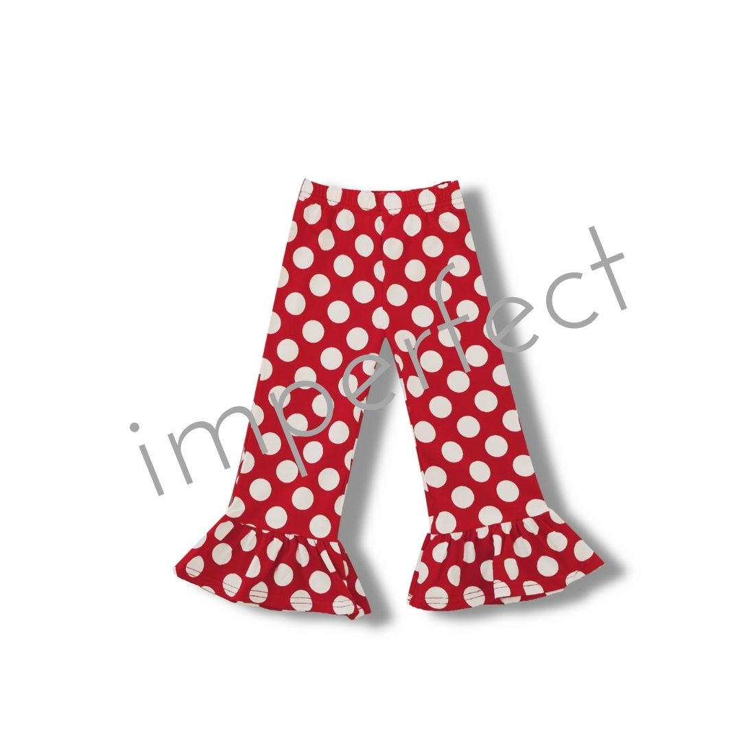 IMPERFECT- Girl's Polka Dot Ruffle Pants