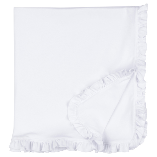 Blank Infant Blanket - Ruffle