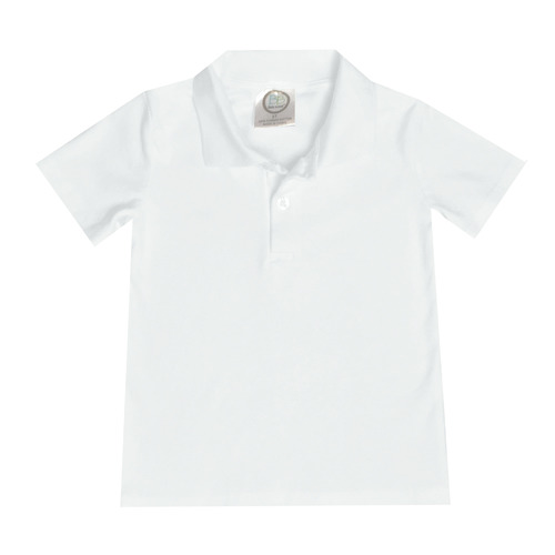 Blank Boy's Short Sleeve Polo Style Collared Shirt