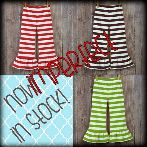 IMPERFECT Girl's Striped Ruffle Pants