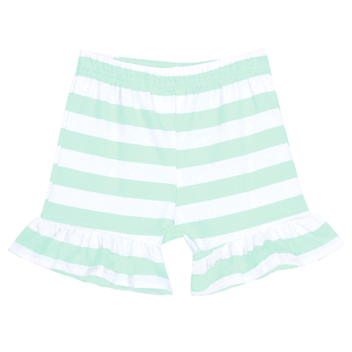 Girl's Striped Ruffle Shorts