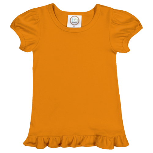 Blank Girl's Short Sleeve Ruffle Tee Shirt