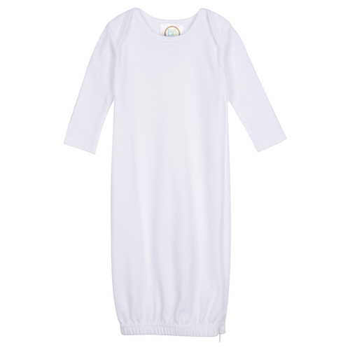 Blank Unisex Long Sleeve Infant Gown with Hidden Zipper