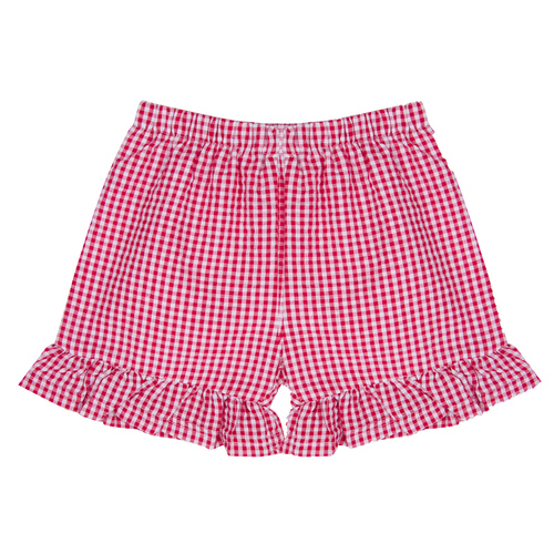 IMPERFECT Girl's Gingham Ruffle Shorts