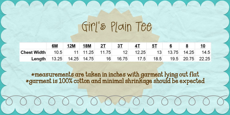 Blank Girl's Short Sleeve Plain Tee