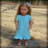 Blank 18 Inch Doll Puff Sleeve Ruffle Dress