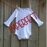 IMPERFECT Blank Girl's Long Sleeve Ruffle Infant Bodysuit