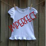 IMPERFECT Blank Girl's Short Sleeve Ruffle Tee Shirt