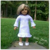 Blank 18 inch Doll Long Sleeve Ruffle Dress