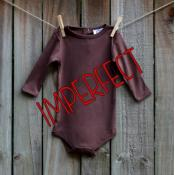 IMPERFECT Blank Unisex Long Sleeve Infant Bodysuit