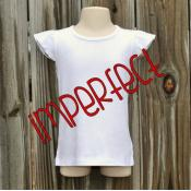 IMPERFECT Blank Girl's Flutter Sleeve Tee Shirt