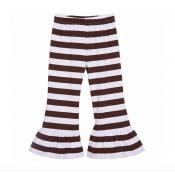 Girl's Striped Ruffle Pants