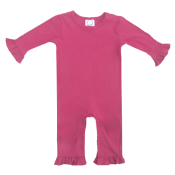 Blank Girl's Long Sleeved Ruffle Romper - NEW SIZING!!