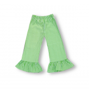 Girl's Gingham Ruffle Pants