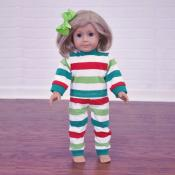 2018 Blank Christmas Pajamas - 18 INCH DOLL