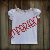IMPERFECT Blank Girl's Short Sleeve Plain Tee