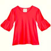 Blank Girl's 3/4 Bubble Sleeve Tunic