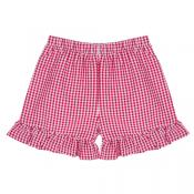 Girl's Gingham Ruffle Shorts