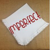 IMPERFECT Blank Infant Blanket - Ruffle