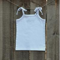 IMPERFECT Blank Girl's Tie-top Tank Top