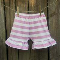 IMPERFECT Girl's Striped Ruffle Shorts