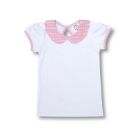 Blank Girl's Short Sleeve Peter Pan Collar Tee