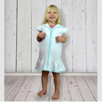 Blank Girl's Terry Cloth Swim Cover Up Dress