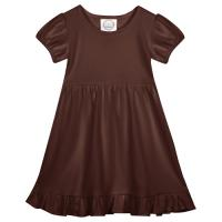 Blank Short Sleeve Empire Waist Ruffle Dress