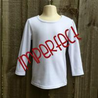 IMPERFECT Blank Girl's Long Sleeve Plain Tee (No Ruffle)