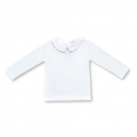 IMPERFECT Blank Boy's Long Sleeve Peter Pan Collar Tee Shirt