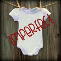 IMPERFECT Blank Girl's Short Puff Sleeve Infant Bodysuit
