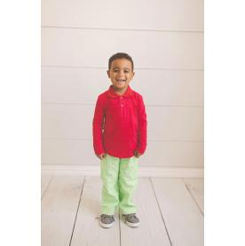 IMPERFECT Blank Boy's Long Sleeve Polo Style Collared Shirt
