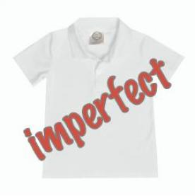 IMPERFECT Blank Boy's Short Sleeve Polo Style Collared Shirt