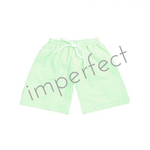 IMPERFECT Blank Seersucker Swim Trunks