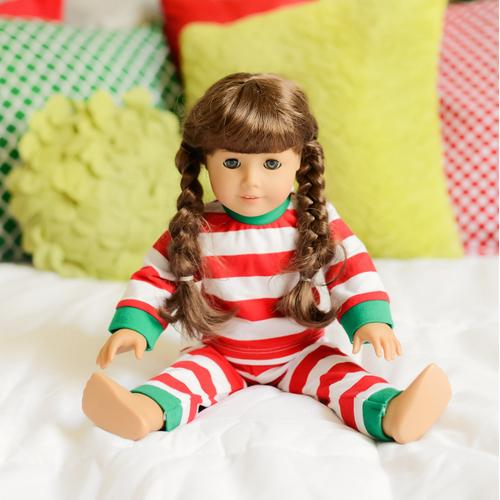 IMPERFECT Blank Christmas Pajamas - 18 INCH DOLL