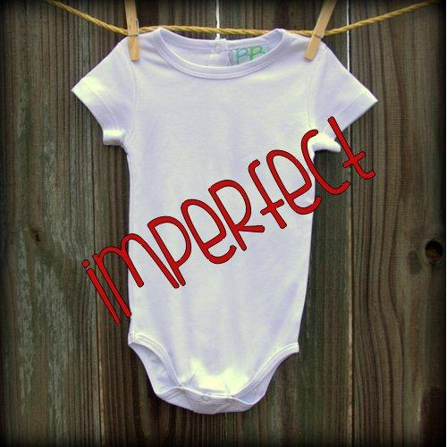 IMPERFECT Blank Unisex Short Sleeve Infant Bodysuit