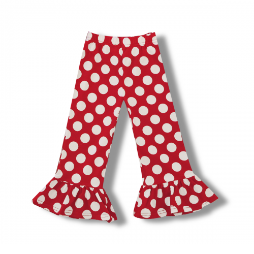 Girl's Polka Dot Ruffle Pants